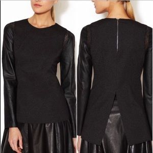 Rio Leather Long sleeved top